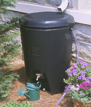 Rain barrel for collecting roof run-off